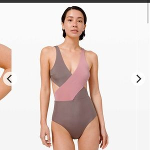 NWT! Lululemon all that glimmers wrap swimsuit